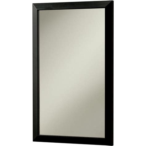 black medicine cabinet with mirror city 16 5 in w x 26 5 in h x 5 25 in d recessed or