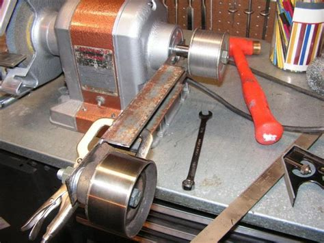 diy belt grinder attachment   bench grinder