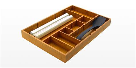 Kitchen Drawer Organizer Adjustable by Adjustable Flatware Organizer Bamboo Kitchen Storage
