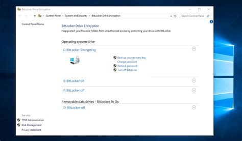 configure bitlocker drive encryption  windows
