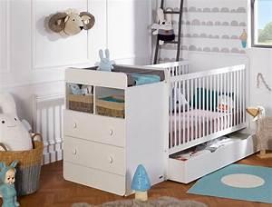 Chambre bebe evolutive malte blanc avec tiroir et matelas for Luminaire chambre enfant avec matelas direct fabricant