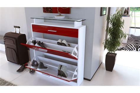 meuble chaussures design laqu 233 blanc trendymobilier