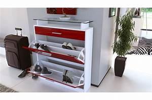 Meuble A Chaussure Design : meuble chaussures design laqu blanc ~ Teatrodelosmanantiales.com Idées de Décoration