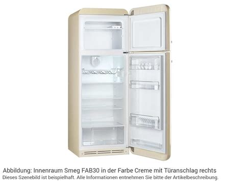 Smeg Kühlschrank Innen by Smeg Fab30ro1 K 252 Hl Gefrierkombination Orange