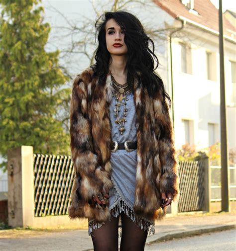 Give To Me Your Leather by Tessa Diamondly Zara Faux Fur Coat New Dress Asymmetric
