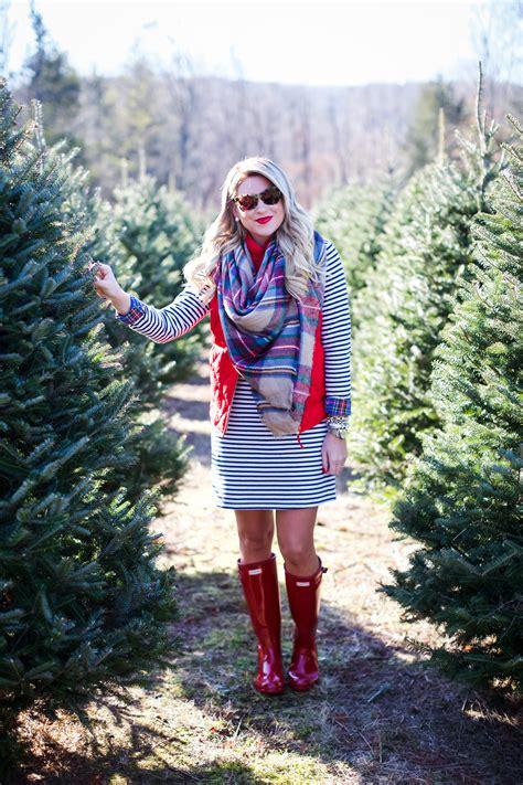 outfit christmas tree farm shop dandy  florida based style  beauty blog  danielle