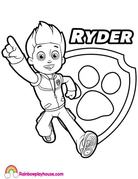 32 Paw Patrol Coloring Pages Ryder Free Printable