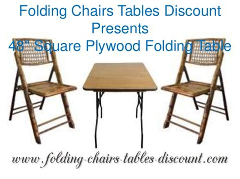 folding chairs tables discount presents 48 inches square