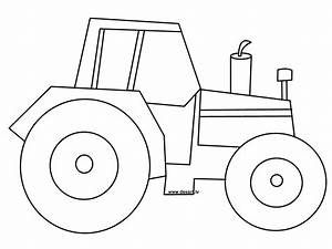 tractor pictures to print and color tractor coloring With tractor template to print