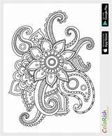 Pages Crochet Paisley Simple Designs Motif Mehndi Coloring Pattern Patterns Irish Zentangle Mandala Motifs sketch template