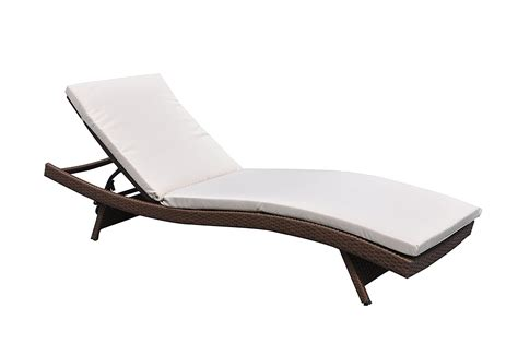 outdoor paito recliner pe wicker adjustable pool chaise