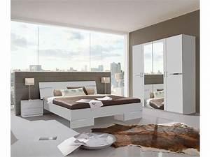 chambre complete emma coloris blanc et chrome vente de With conforama chambre adulte complete