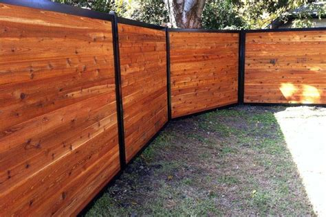 Build A Wood Fence With Metal Posts (that's Actually