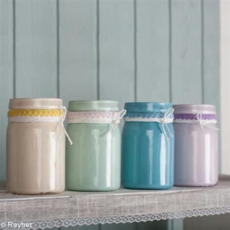 peindre des pots en verre diy d 233 co recycler vos pots en verre avec de la peinture chalky finish id 233 es et conseils