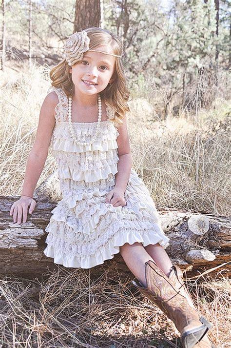 flower girl dresses  country weddings deer pearl