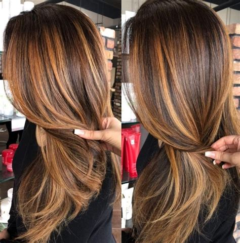 copper brunette hair color ideas   spring