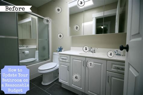 updating bathroom budget bathroom renovation for under 200 tons of ideas for how to update old bathrooms update a