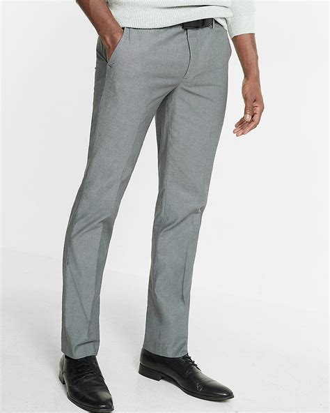 mens light grey dress pants skinny innovator gray chambray dress pant express