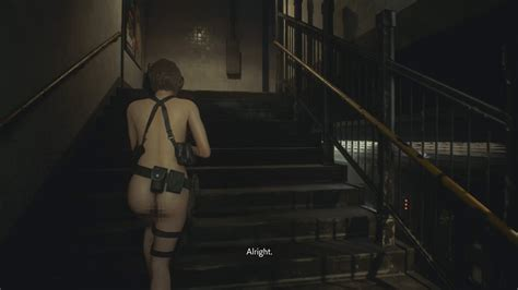 Jill Runs Around Nude By Way Of Resident Evil 3 Remake