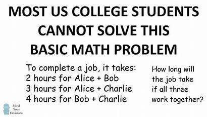 Math Problem College Riddle Solve Basic Students