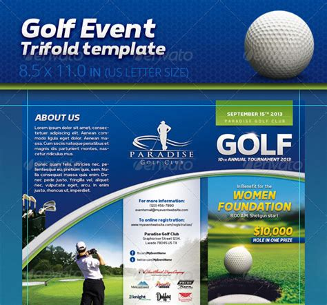 Golf Tournament Tri Fold Brochure Template Word Publisher 30 Best Brochure Templates 2013 Web Graphic Design
