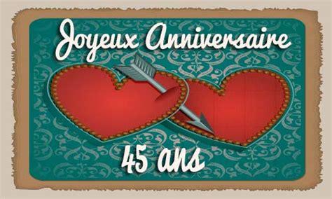 anniversaire de mariage 45 ans carte carte anniversaire mariage 45 ans coeur fleche
