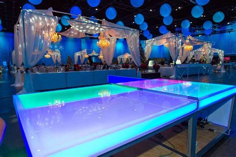 Glow In The Dark Ping Pong Table Over 21 Party Rentals