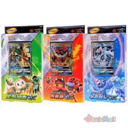pokemon card game tcg sun moon starter set trio of theme