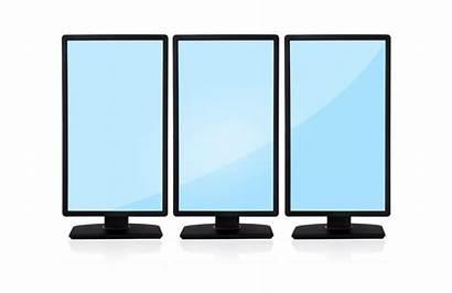 Vertical Monitor Monitors Computer Empty Three Icon
