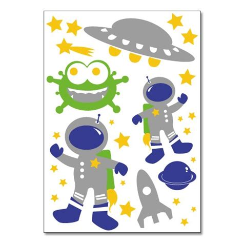 Wandtattoo Kinderzimmer Weltraum by Wandsticker Set A4 Bunter Weltraum