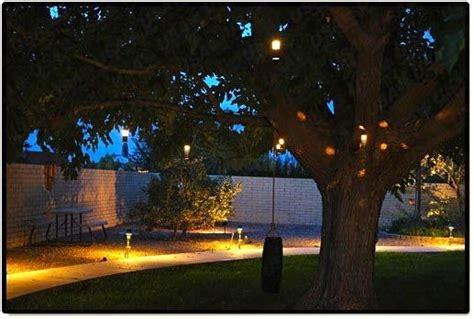 landscape lighting outdoor  voltage flower hanging tree