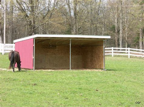 Run In Shed For Horses by Maverick Run In Shelter Kit Klene Pipe Structures