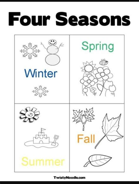 pin by esther on pre k worksheets seasons worksheets