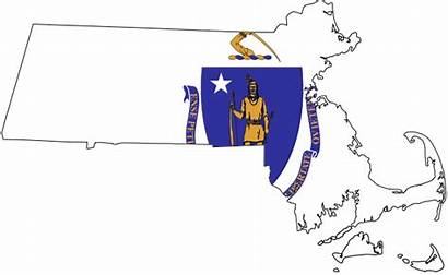 Massachusetts Flag Map Svg State Ma Cna