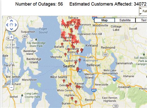 seattle city light power outage map cliff mass weather and climate major windstorm