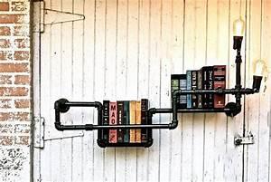 Regal Aus Rohren : industrial look 26 stylische m bel aus rohrverbindern meine pinnwand pinterest m bel ~ Markanthonyermac.com Haus und Dekorationen