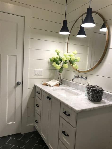 Bathroom Mirror Remodel by Shiplap Modern Farmhouse Mirror Brass Bathroom