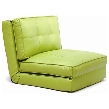 sleeper chair tufted folding single bed green