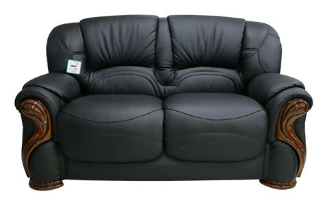 How To Clean A Leather Settee by Susanna 2 Seater Italian Black Leather Sofa Settee