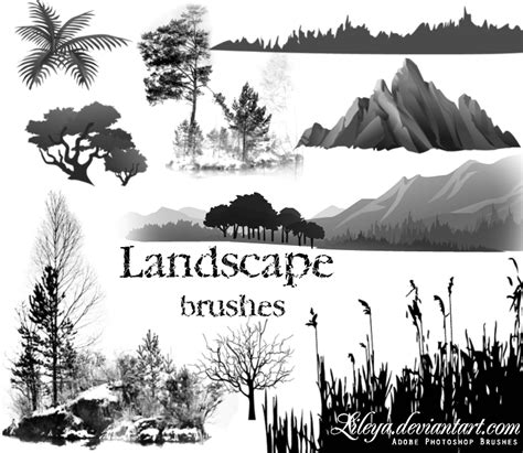 Landscape Brushes  Nature Photoshop Brushes Brushlovers