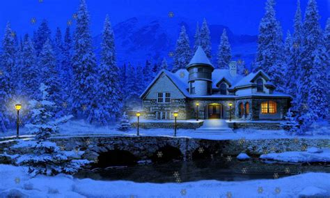 Snowy Cottage Animated Wallpaper - free 3d snowy cottage free apk for android getjar
