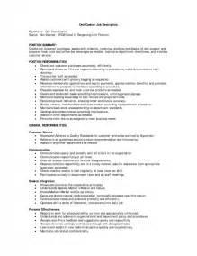 resume for cashier at walmart cashier description for resume sles of resumes