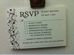 Wedding RSVP Reveals How Some People Feel About Attending An Australian Couple Have Sent The Best Wedding RSVP Card Fun Wedding Invitation Wording Wedding Invitation Templates Invitation Templates Funny Wedding Invitations Wording