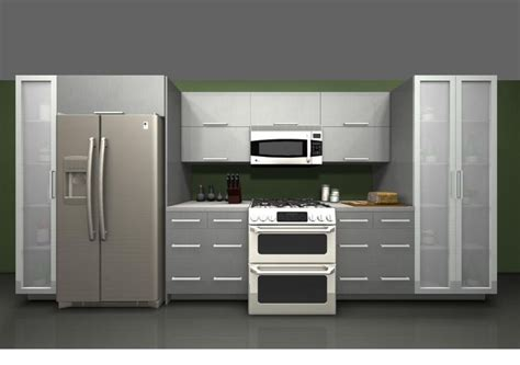 Ikea Stainless Kitchen Cabinets by Use Ikea Rubrik Stainless Steel Cabinet Fridge And