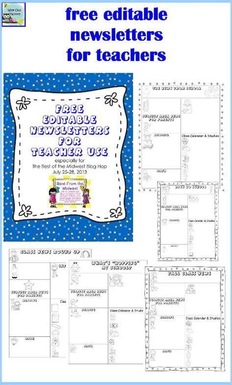 free editable newsletter templates editable newsletters for teachers five templates free pdf free and school