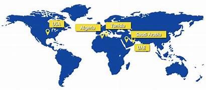 Map Saudi Tunisia Arabia Uae Usa Algeria