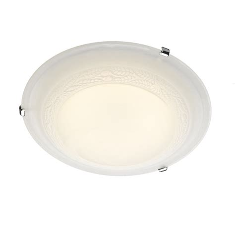 decorative alabaster glass led flush ceiling light for low