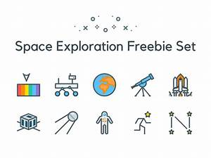 Space and Astronomy Icon Set ~ EpicPxls