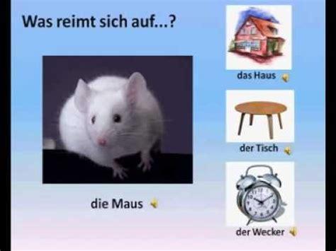 deutsch fuer kinder  reimt sich auf youtube