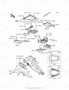 Kawasaki Motorcycle 2015 Oem Parts Diagram For Side Covers